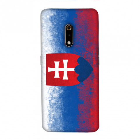 Love For Slovakia Slim Hard Shell Case For Realme X