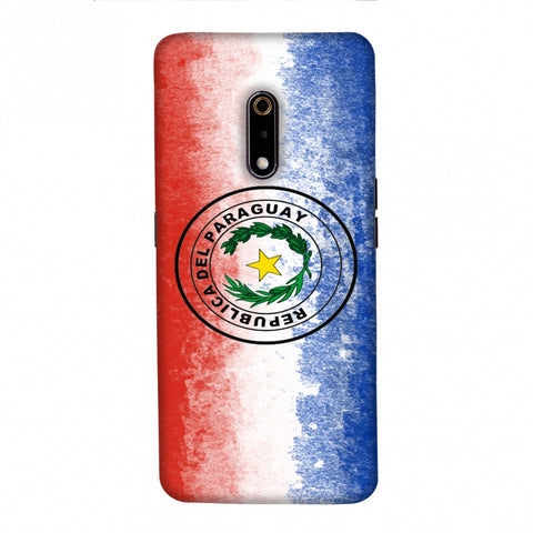 Love For Republic Of Paraguay Slim Hard Shell Case For Realme X