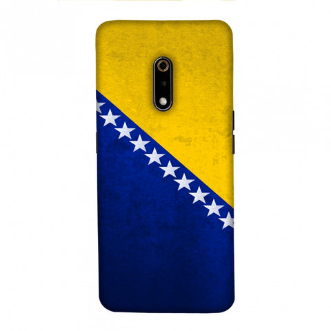 Love For Bosnia and Herzegovina Slim Hard Shell Case For Realme X