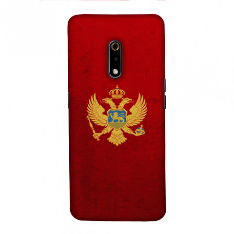 Love For Montenegro Slim Hard Shell Case For Realme X