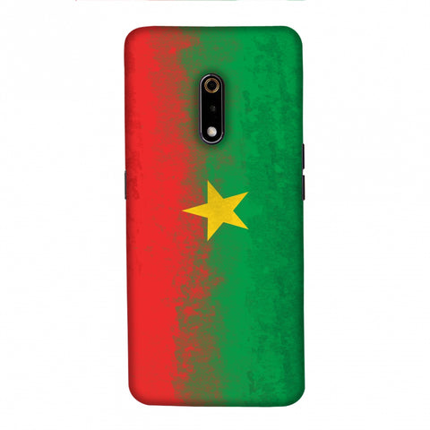 Love For Burkina Faso Slim Hard Shell Case For Realme X