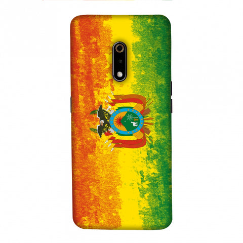 Love For Bolivia Slim Hard Shell Case For Realme X