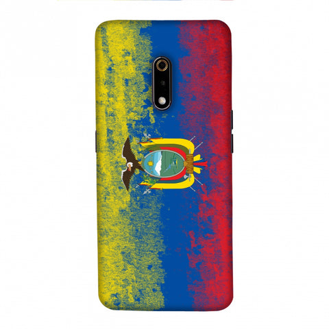 Love For Ecuador Slim Hard Shell Case For Realme X