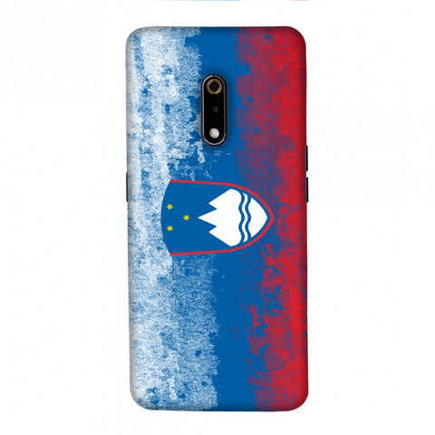 Love For Slovenia Slim Hard Shell Case For Realme X
