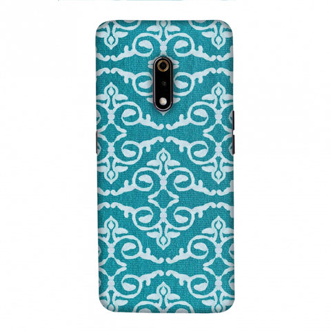Batik Dyeing Art Deco - Aquamarine Slim Hard Shell Case For Realme X