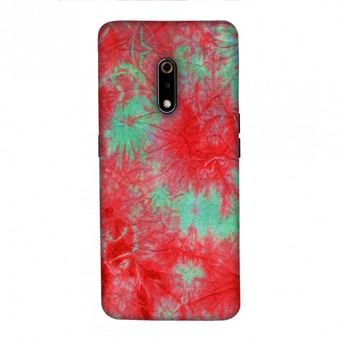 Marble Dyeing - Pink And Aquamarine Slim Hard Shell Case For Realme X