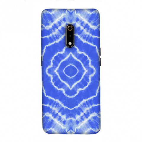 Shibori Dyeing Waves - Light Blue Slim Hard Shell Case For Realme X