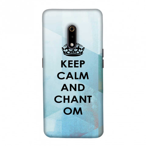 Keep Calm - Chant Om Slim Hard Shell Case For Realme X