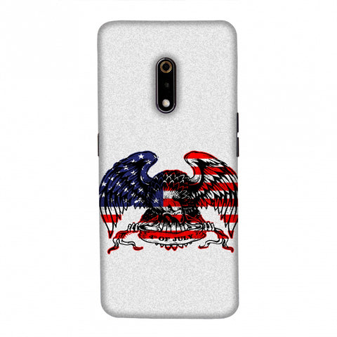 USA Flag - Bald Eagle Slim Hard Shell Case For Realme X