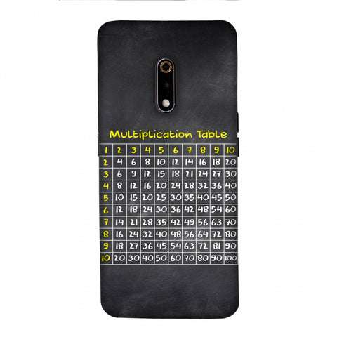 The Multiplication Table Slim Hard Shell Case For Realme X