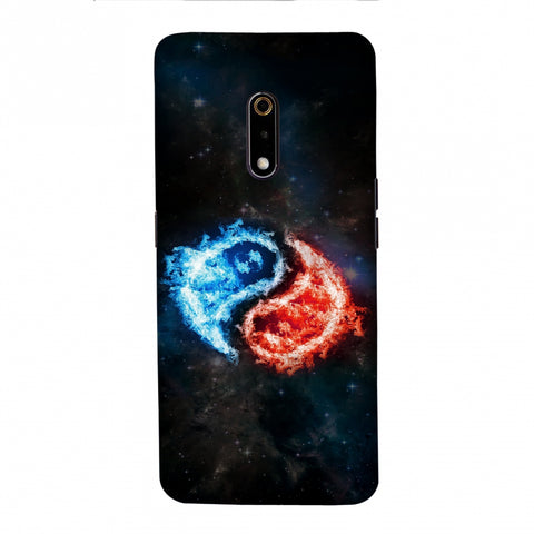 Element - Fire & Water Slim Hard Shell Case For Realme X/OPPO K3