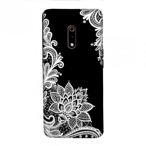 Floral Pattern B/W Slim Hard Shell Case For Realme X/OPPO K3