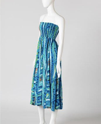 Blue Water Melon Printed Dress
