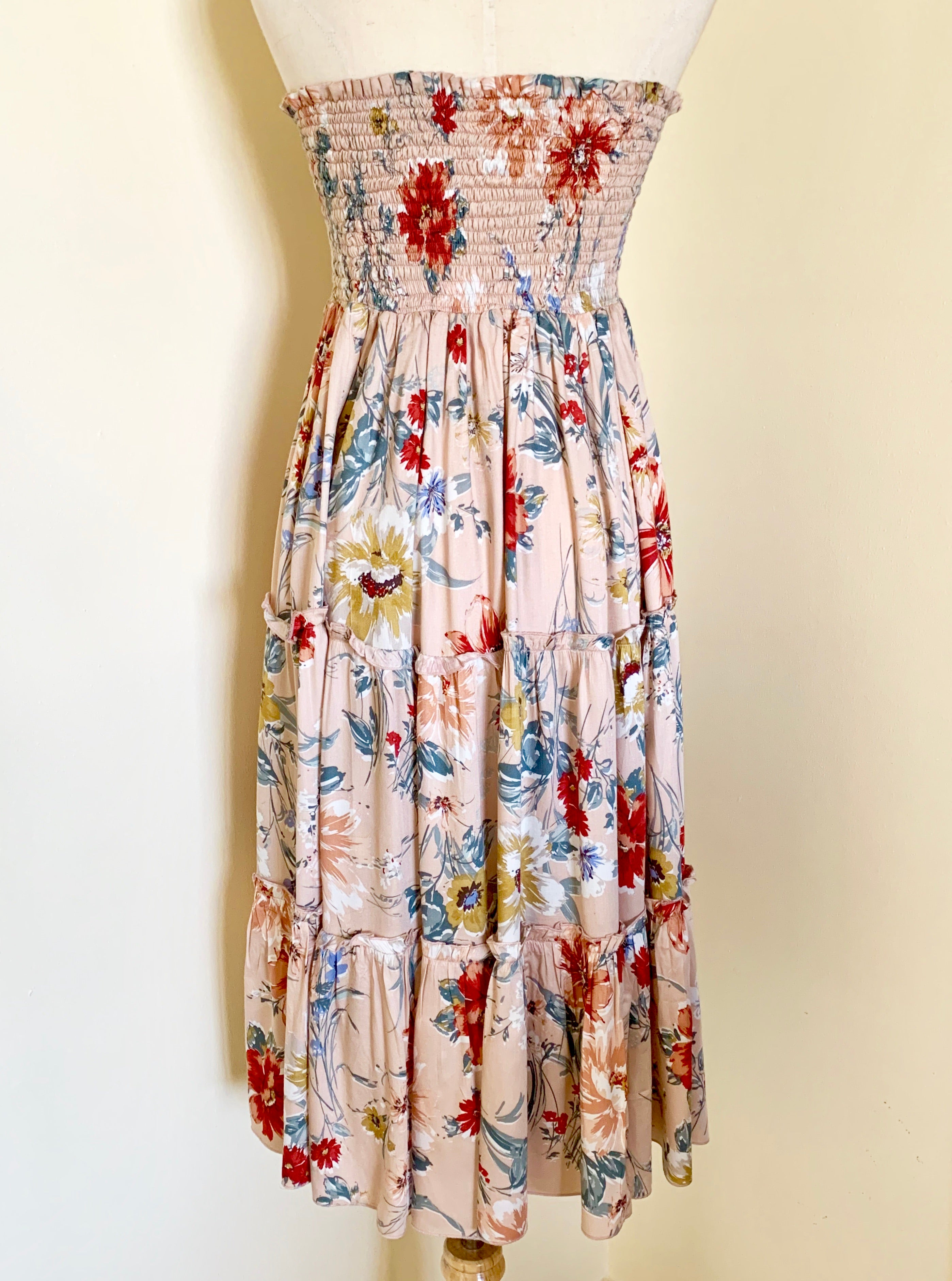 Midi gypsy tube dress