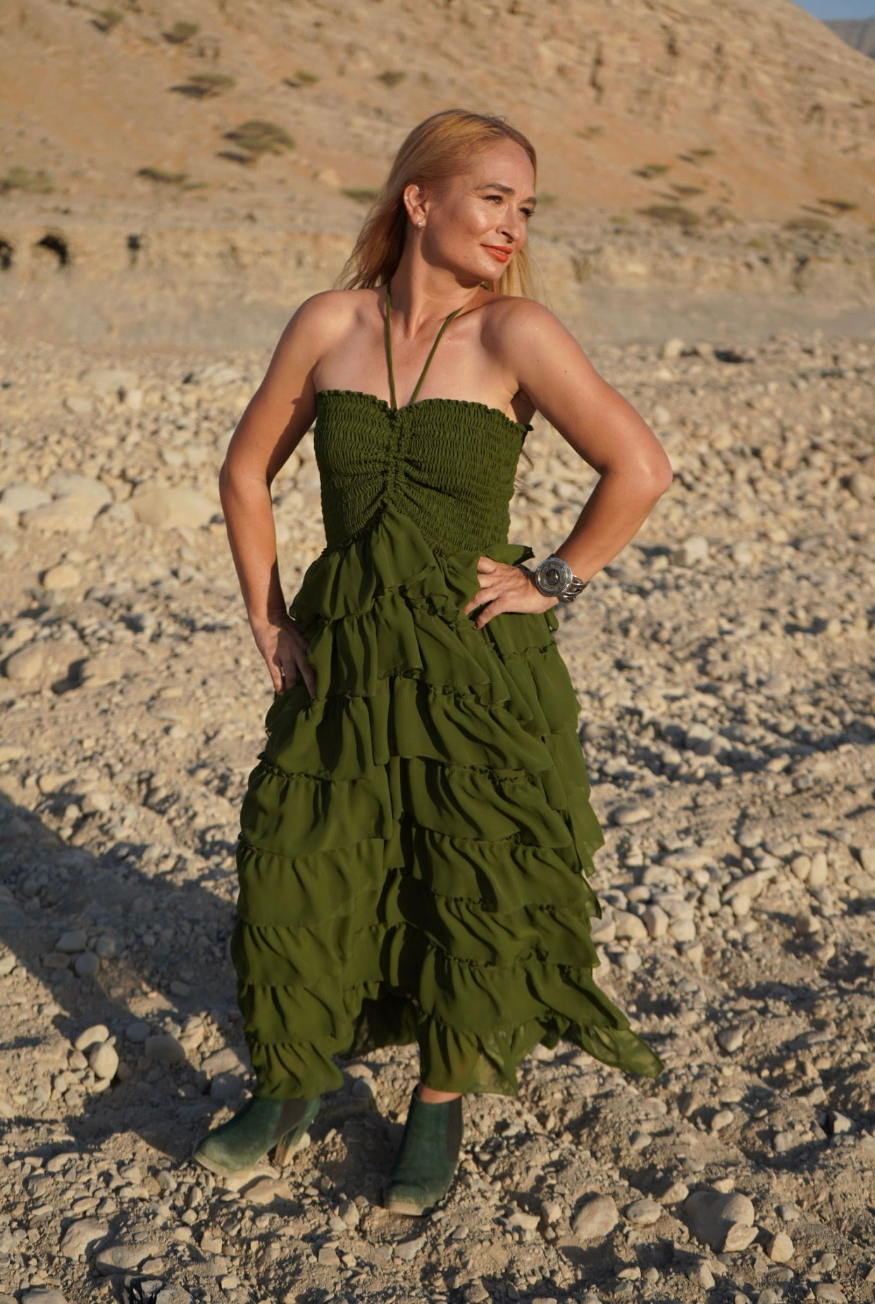 Liza Rara Midi Dress in Mother Earth