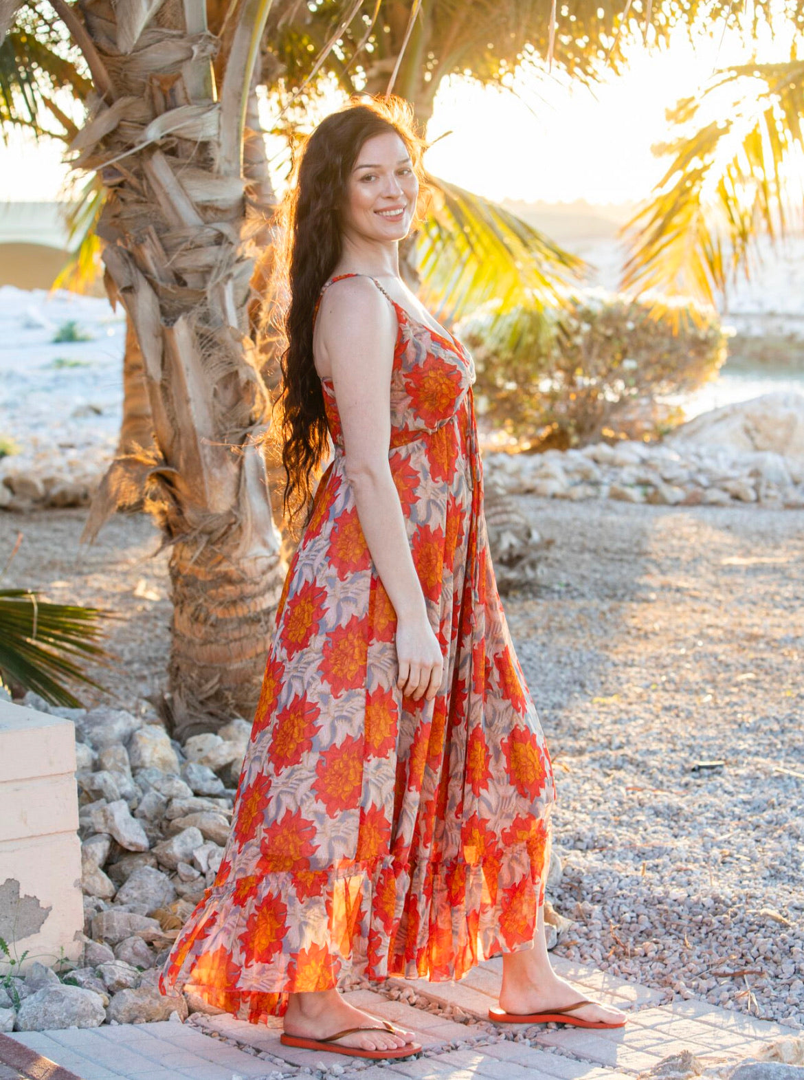Sunset summer maxi dress