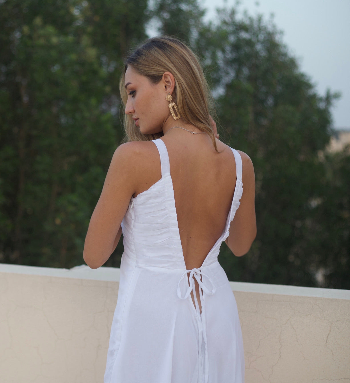 Cali dress in white