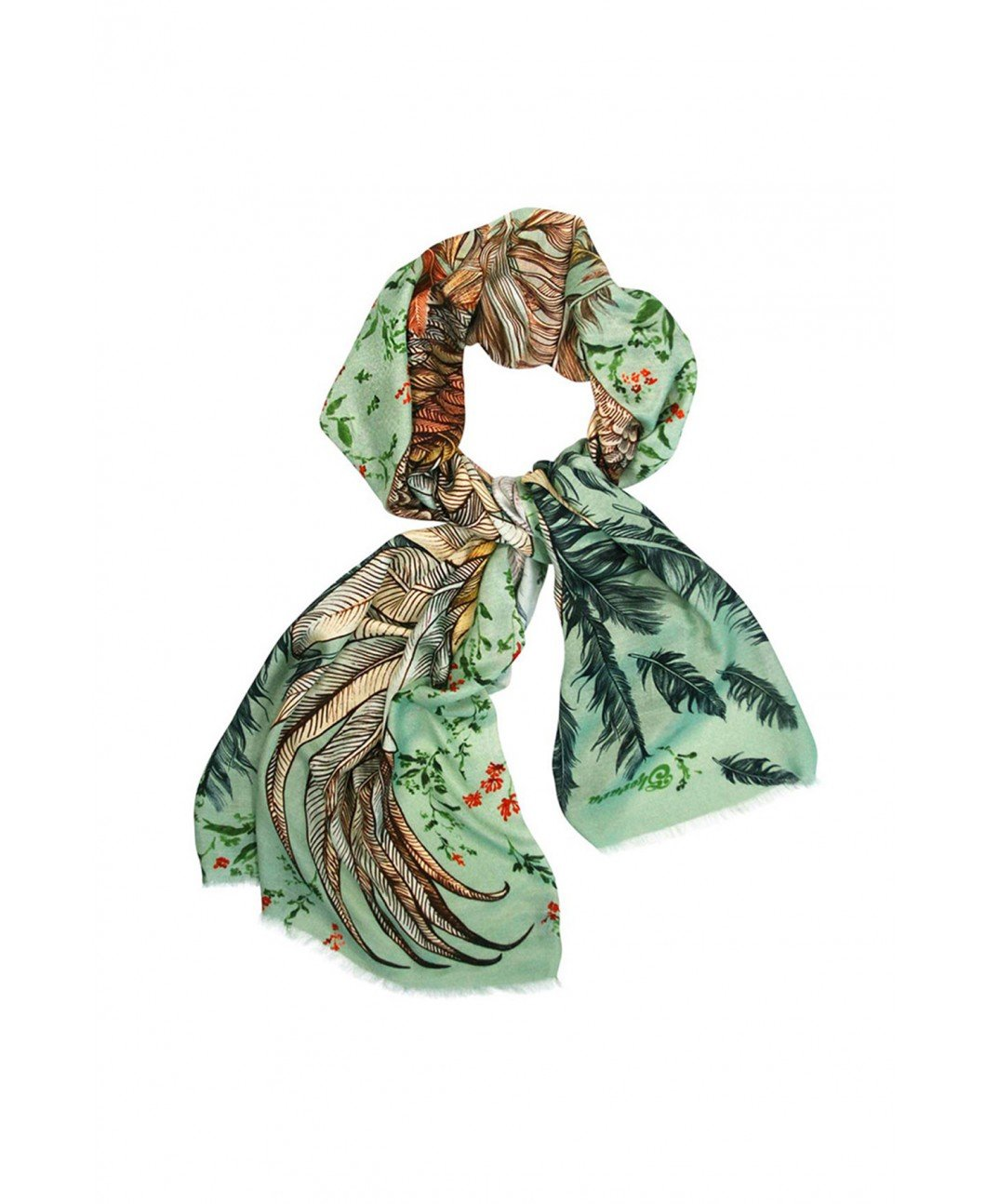 VINTAGE GREEN SCARF - By Shovava