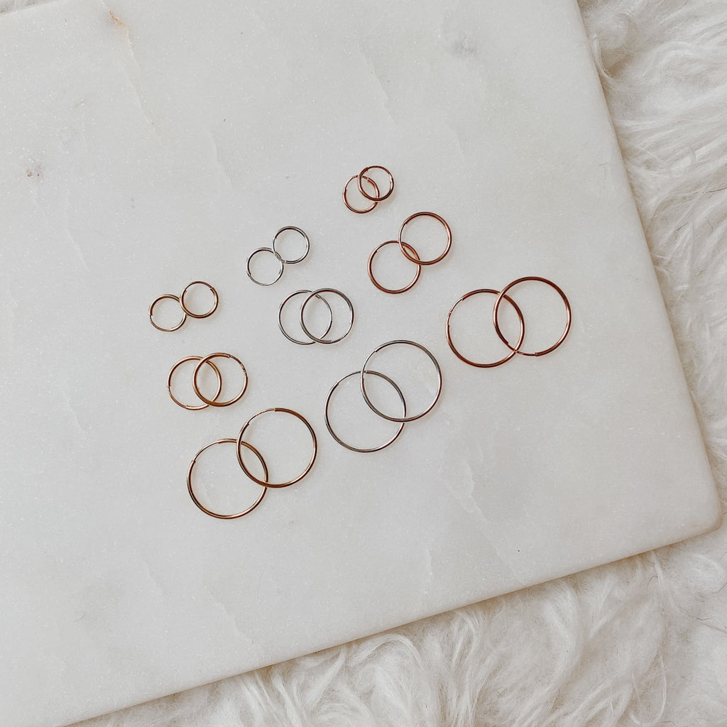 The Dee Live-In Dainty Hoops