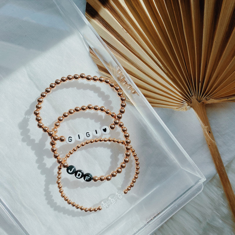 Rose Gold Custom Word Stacker