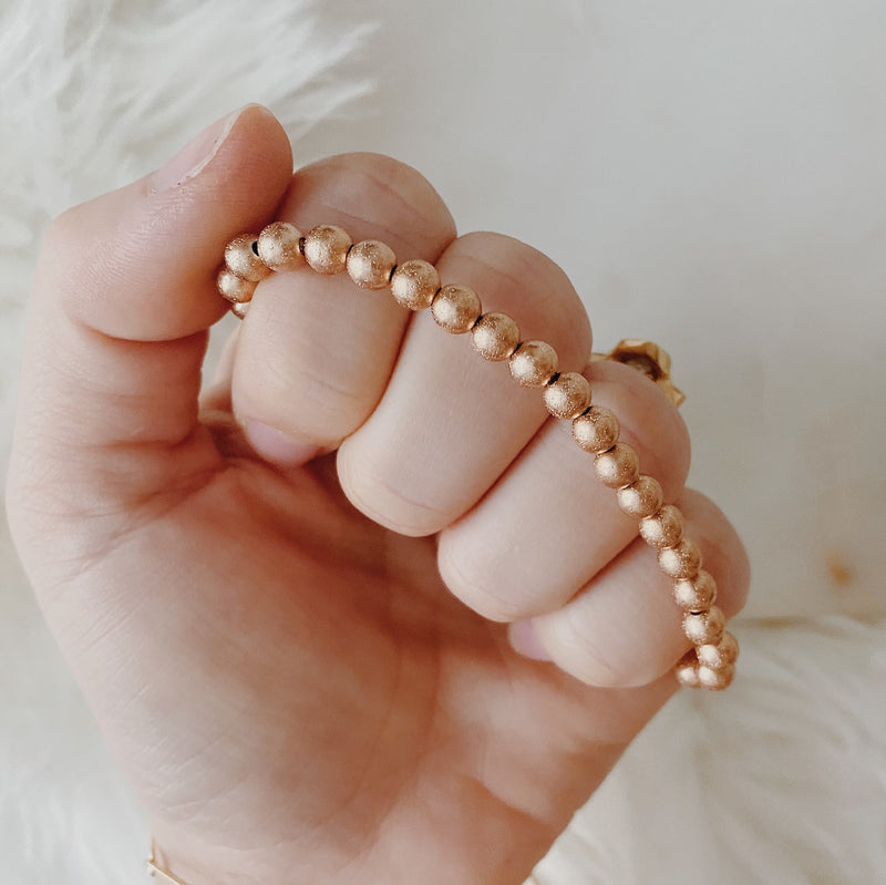 Champagne Sparkle Rose Gold Filled Stacker