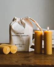 Beeswax Honeycomb Pillar Candles | Set of 4