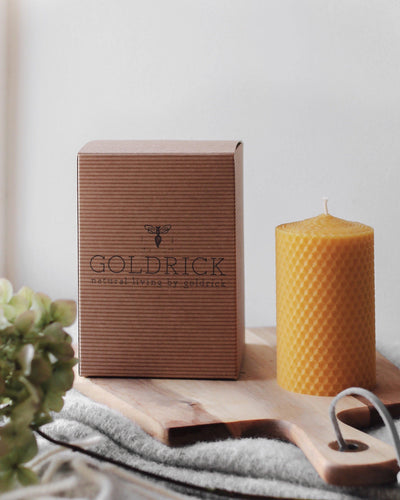 100% Beeswax Hand-Rolled Pillar Candle
