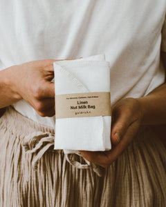 Traditional Nut Milk Bag | Linen