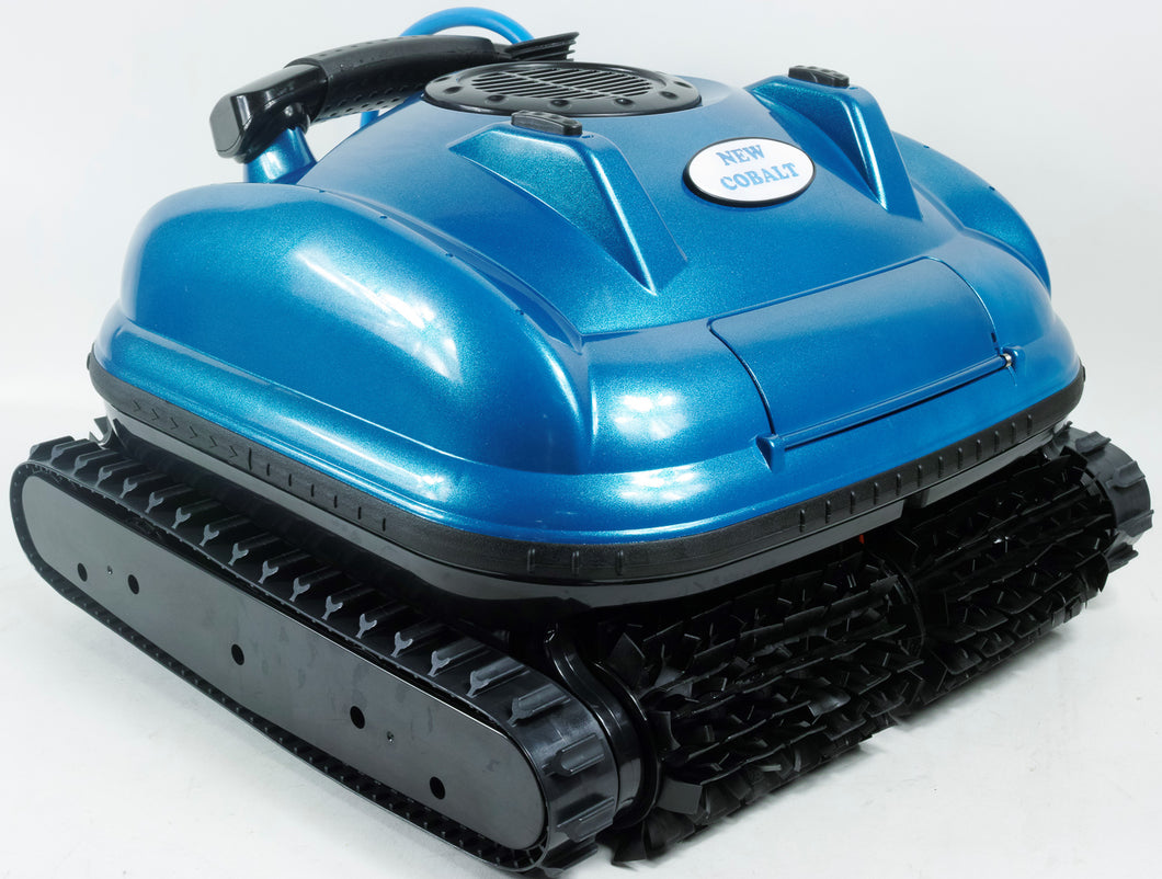Nu Cobalt NC71 Wall climber scrubber smart logic robotic pool cleaner with caddy and swivel. Ideal for in Ground pools up to 20' x 40'
