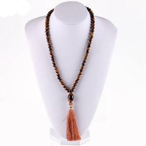 Tiger Eye Mala Necklace (5 Styles)