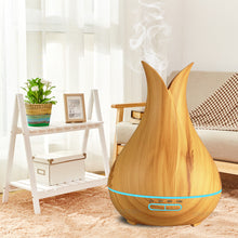 Ultrasonic Essential Oil Diffuser & Air Humidifier Wood Grain 7 Color (400ml)
