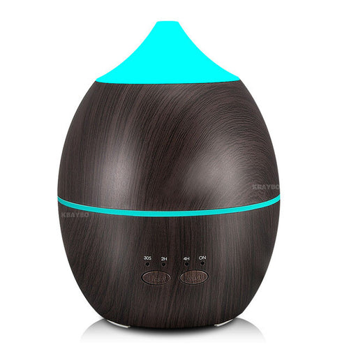 Ultrasonic Essential Oil Diffuser Wood Grain 7 LED Night Light (300ml )