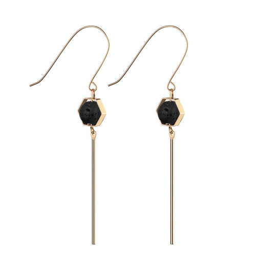 Fashion Lava Stone Essential Oil Diffuser Earrings