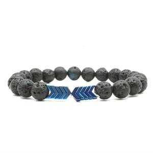 Sacred Arrow Lava Stone Essential Oil Diffuser Bracelet (8 colors)
