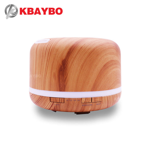 Ultrasonic Essential Oil Diffuser & Air Humidifier (500ml)