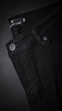Light-Washed Black Denim Jeans (Skinny)
