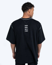 2 Fronts Contrast Stitched Tee [Reversible]
