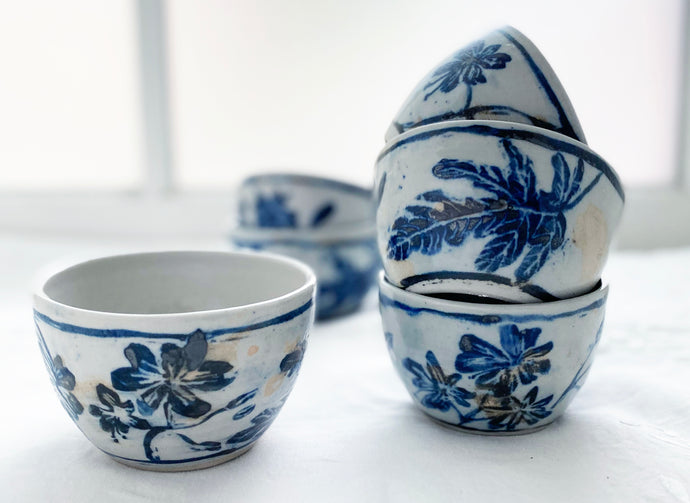 Small porcelain ice cream bowl