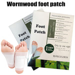 10Pcs/20Pcs Wormwood Foot patch Detox Foot Patch Pads Body Toxins Feet Slimming Cleansing Herbal Adhesive Foot Health Care Patch
