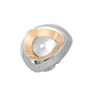 Choice - Anello donna Triangle Bicolor in Acciaio Inossidabile - monility