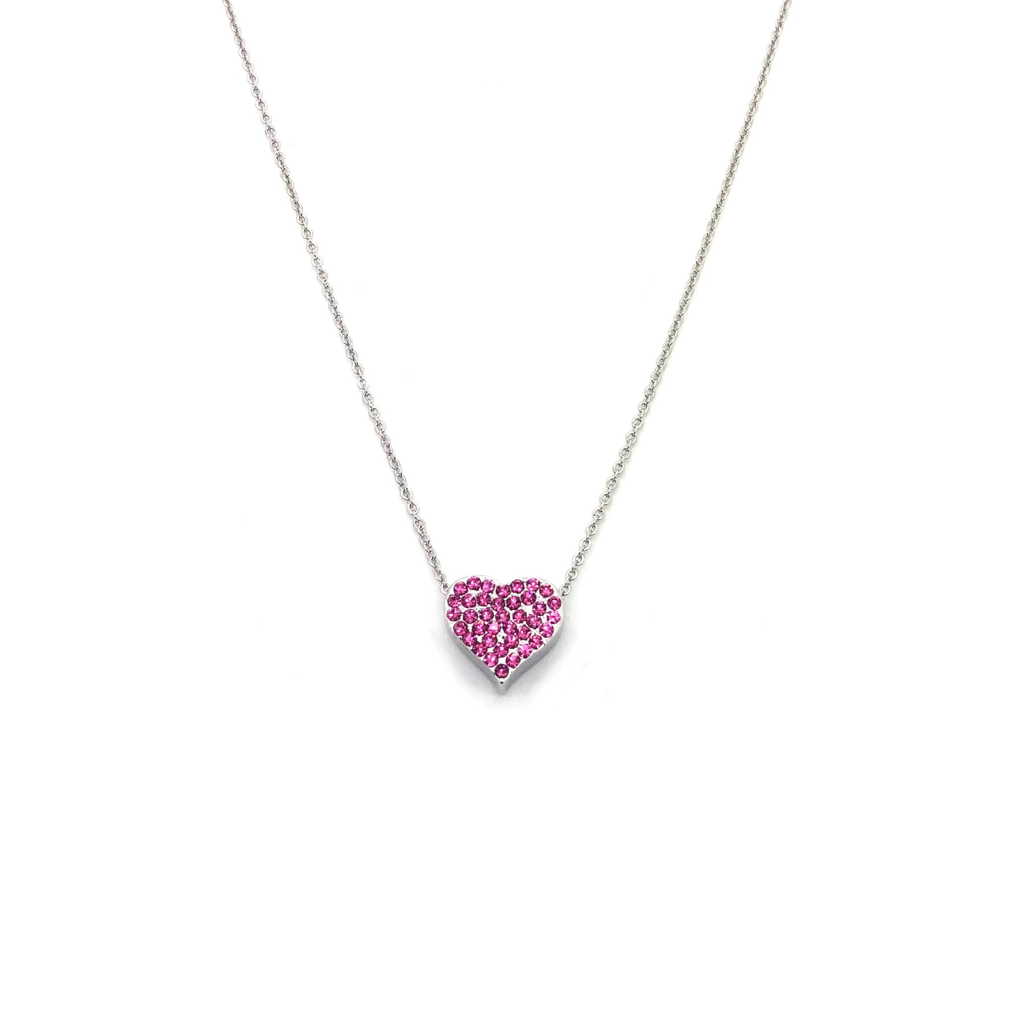 Collana donna Pink Love silver