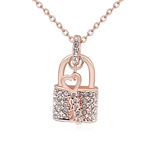Collana donna Padlock gold rose