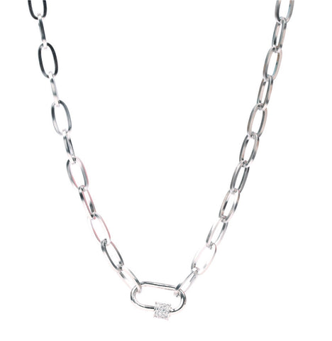 Collana donna Catena con Zirconi