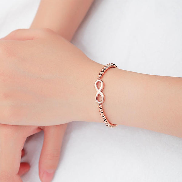 Bracciale donna Infinity gold rose - monility