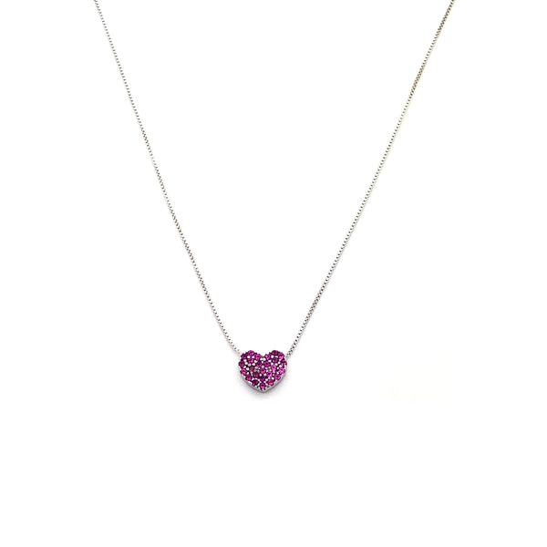 Argento 925 - Collana donna Pink Heart