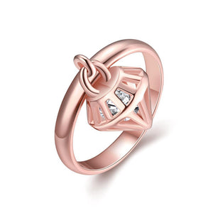 Anello donna Diamond gold rose misura 14-16 - monility