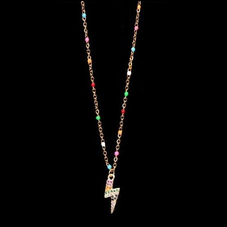 Collana donna Rainbow Fulmine Gold