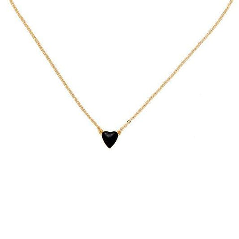 Argento 925 - Collana donna Sweet Heart nero