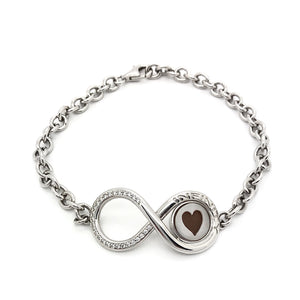 Bracciale donna CAMMEO Infinity Cuore Argento 925
