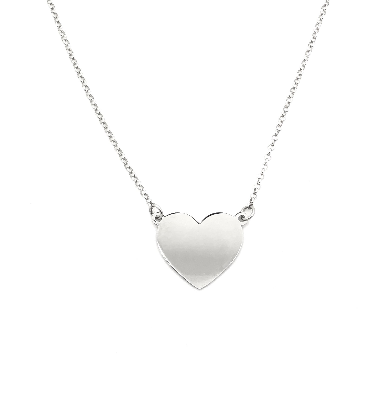 Argento 925 - Collana donna Big Heart - monility